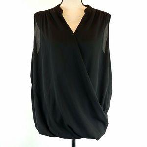 Inc International Concepts Top 1X Black Sheer